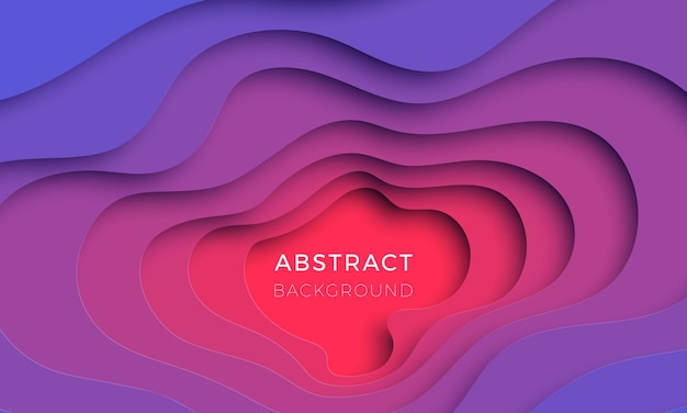 3d realistischer papierschnitthintergrund. design-layout für präsentation, flyer, einladung, poster, banner. einfach zu bearbeiten und anzupassen. eps10