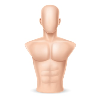 3d realistischer sandsack - menschlicher körper