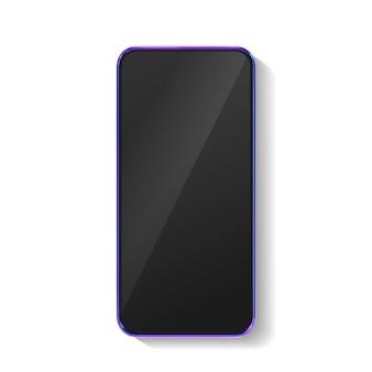 3d realistisches buntes smartphone-modell
