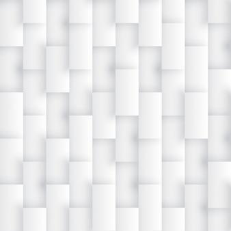 3d render rechtecke nahtloses muster einfach weiß