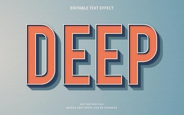 3d-retro tiefer texteffekt