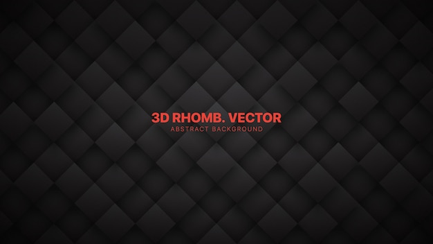 3d rhombus blocks gitter technologisch minimalistisches dunkelgrau