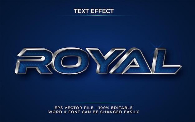 3d royal texteffektstil bearbeitbarer texteffekt