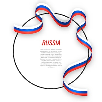 3d russland mit nationalflagge.