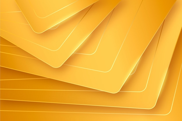 3d-schichten des goldenen luxushintergrunds