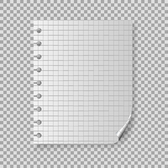 3d-seite vom notebook abgerissen.