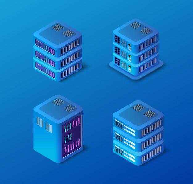 3d server-netzwerk gesetzt