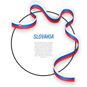 3d slowakei mit nationalflagge.