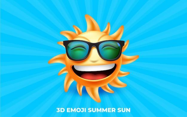 3d-smilling-emoji mit brille