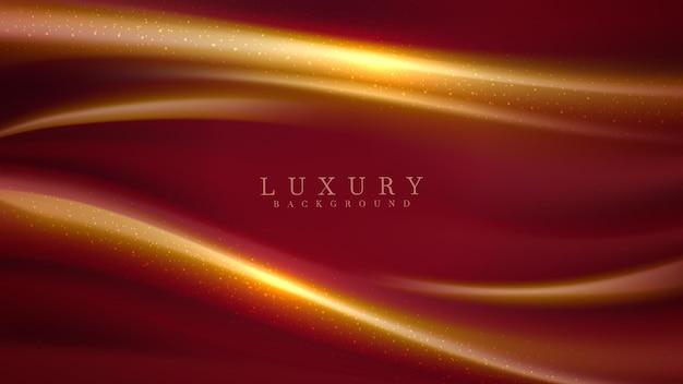 3d-stil luxuriöser abstrakter hintergrund, goldenes abwechselndes rot, modernes konzept des cover-designs. vektor-illustration.