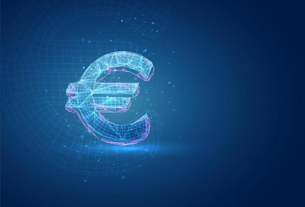 3d-symbol auf blauem hintergrund