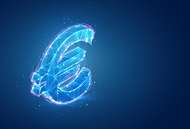 3d-symbol, volumetrisches objekt auf blauem hintergrund