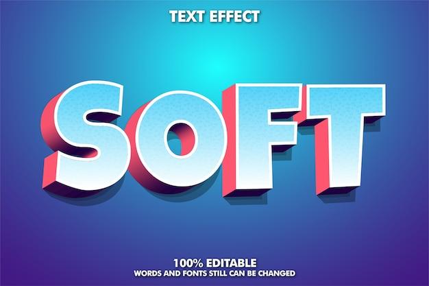3d-texteffekt mit weichem farbverlauf für cartoon-titel