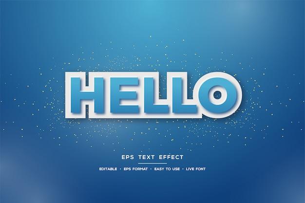 3d-textstileffekt in blau auf blau
