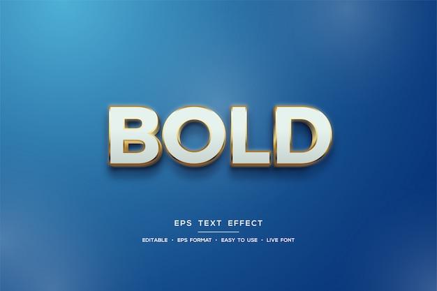 3d-textstileffekt in weiß und gold auf blau