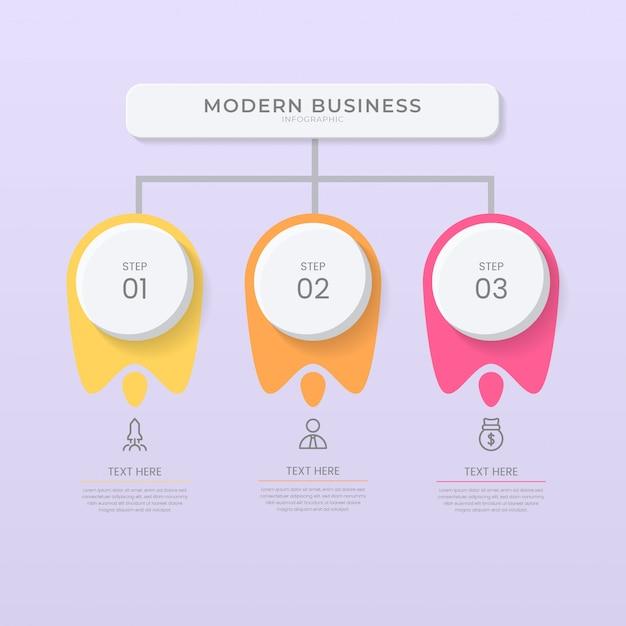 3d und papierschnitt stil infografik design organigramm prozessvorlage mit bearbeitbarem text.