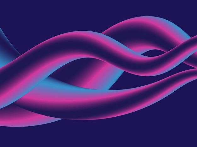 3d-vektor von flüssigem gradientenhintergrund premium-download