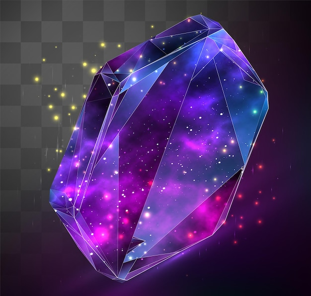 3d-vektorsymbol auf mosaikhintergrund, raum im kristallobjekt gesperrt