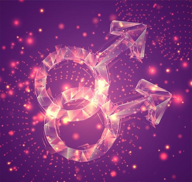 3d-vektorsymbol, volumetrisches objekt auf rosafarbenem hintergrund. layout für business und präsentation