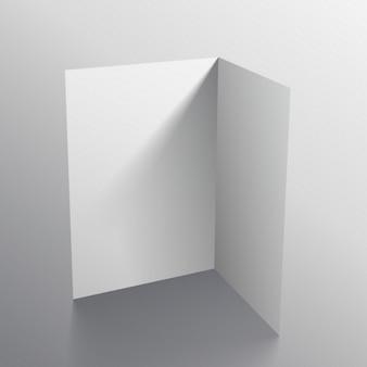 3d-weiße schwarze papierkarte mockup