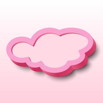 3d-wolke mit rahmen