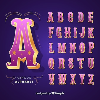 3d zirkus alphabet