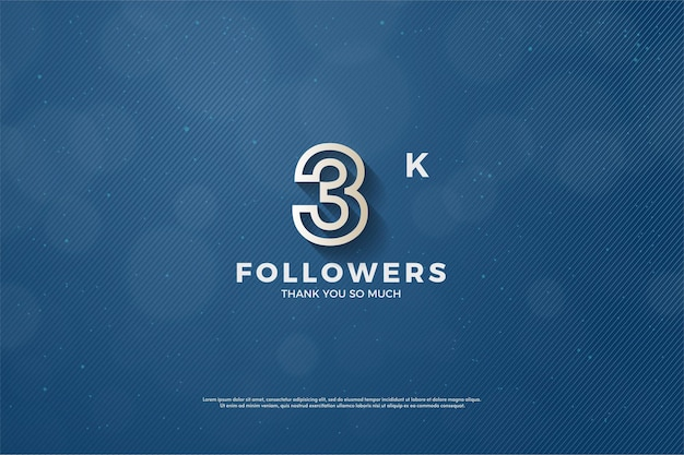 3k follower hintergrund mit braun umrissener figur