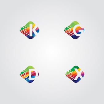 4 initialen logo pack