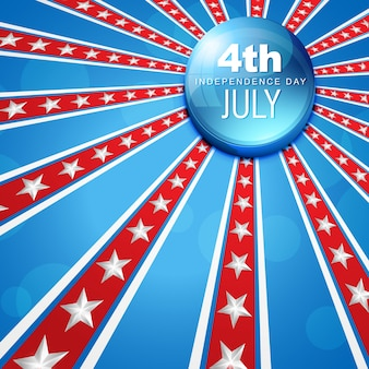 4. juli-amerikanischen unabhängigkeitstag vektor