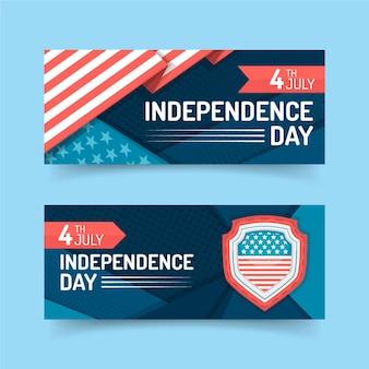 4. juli - banner zum unabhängigkeitstag