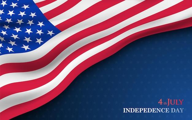 4. juli-banner zum unabhängigkeitstag