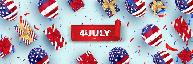4. juli, glücklicher unabhängigkeitstag