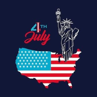 4. juli grußkarte