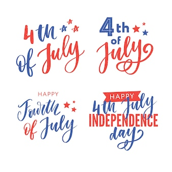 4. juli. happy independence day kalligraphie