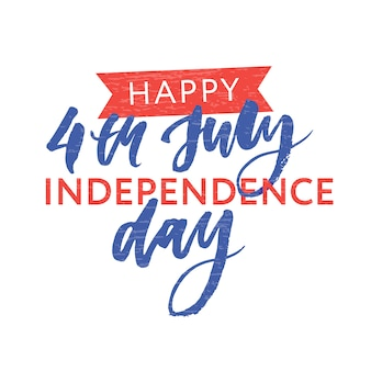 4. juli. happy independence day kalligraphie