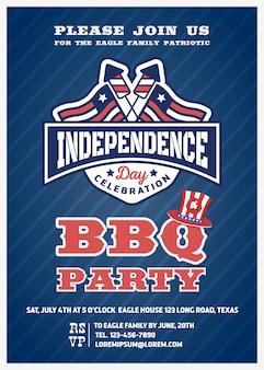4. juli partyeinladung