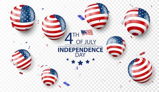 4. juli unabhängigkeitstag der usa-feier