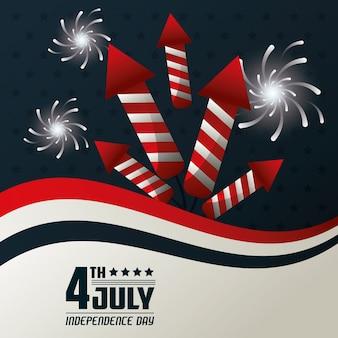 4. juli unabhängigkeitstag feuerwerk