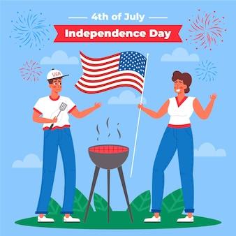 4. juli - unabhängigkeitstag illustration