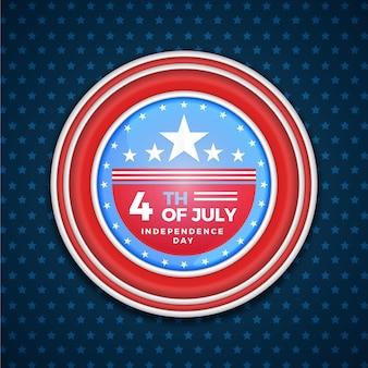 4. juli - unabhängigkeitstag in flachem design