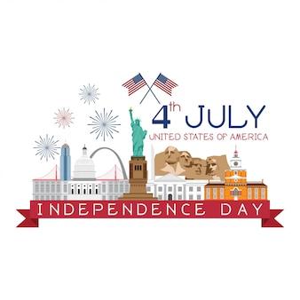 4. juli unabhängigkeitstag vektor.