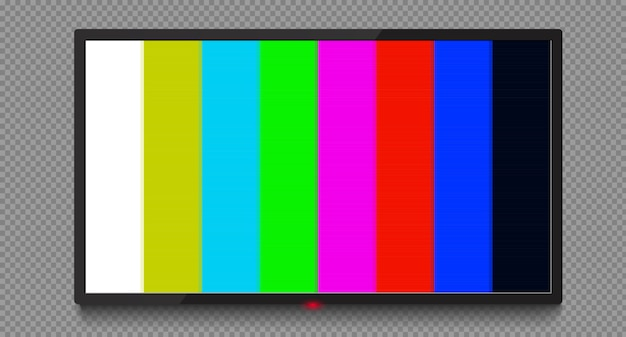 4 k tv bildschirm vektor. lcd- oder led-fernsehbildschirm. kein signal