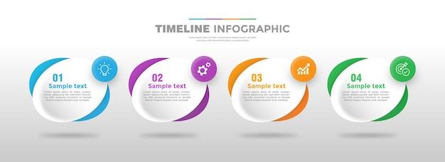 4 schritt infografik