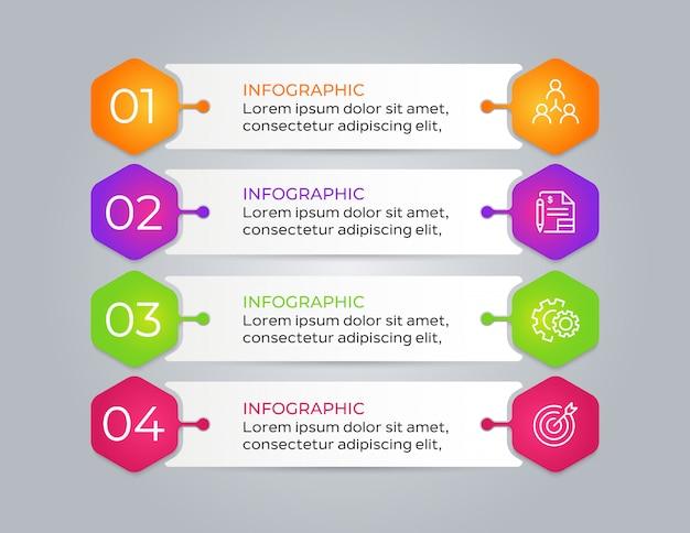 4 schritt moderne business-infografik