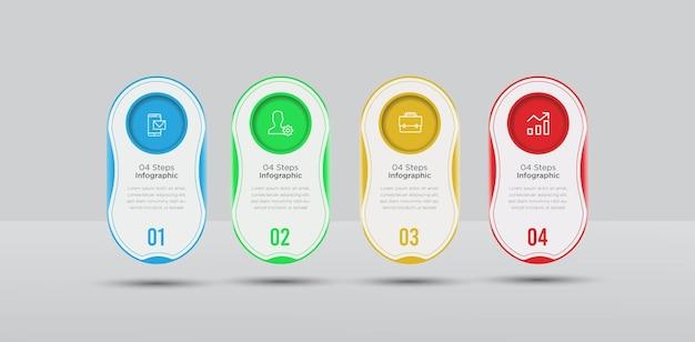 4 schritte business infografiken design