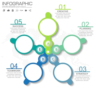 4 schritte infografik-design