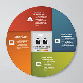 4 schritte infografik diagrammvorlage.