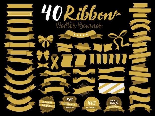 40 goldbänder