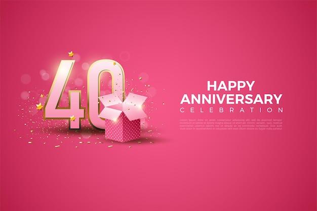 40. jahrestag mit geschenkbox