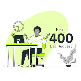 400 fehler schlechte anfrage konzept illustration